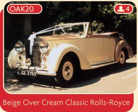 Beige Over Cream Classic Rolls-Royce