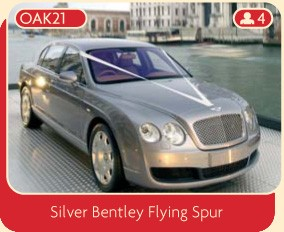 Silver Bentley Flying Spur