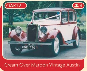 Cream Over Maroon Vintage Austin