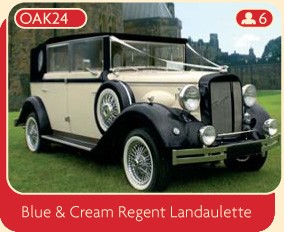 Blue and Cream Regent Landaulette