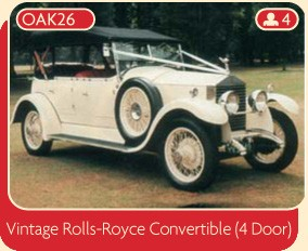 Vintage Rolls-Royce Convertible (4-door)