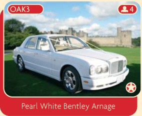 Pearl White Bentley Arnage