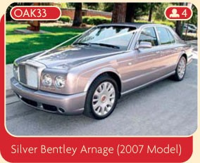 Silver Bentley Arnage