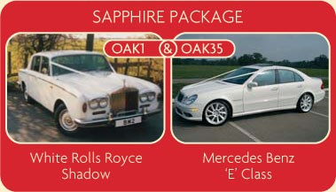 Sapphire Package - White Rolls Roycle Shadow and Mercedes Benz E Class - Click for More Details